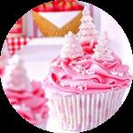 コンパニオンPinkPartyカップケーキ
